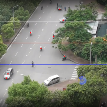 Automatic vehicle tracking system for traffic monitoring and observation